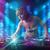 kız · müzik · kulüp · mavi · mor · ışıklar - stok fotoğraf © ra2studio