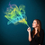 güzel · bayan · sigara · içme · sigara · renkli · duman - stok fotoğraf © ra2studio