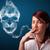若い女性 · 喫煙 · たばこ · 毒性 · 頭蓋骨 - ストックフォト © ra2studio