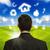zakenman · eco · iconen · rond · hoofd - stockfoto © ra2studio