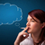 güzel · bayan · sigara · içme · sigara · fikir · bulut - stok fotoğraf © ra2studio
