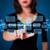 üzletasszony · kisajtolás · virtuális · média · gombok - stock fotó © ra2studio