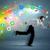 läuft · Geschäftsmann · Anwendung · Symbole · Gerät · farbenreich - stock foto © ra2studio