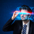 przystojny · mężczyzna · patrząc · futurystyczny · wysoki · tech · okulary - zdjęcia stock © ra2studio
