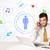 zakenman · social · media · verbinding · zakenman · vergadering · witte - stockfoto © ra2studio