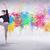 modern · sokak · dansçı · atlama · renkli · boya - stok fotoğraf © ra2studio