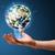 zakenman · aarde · wereldbol · jonge - stockfoto © ra2studio