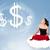 mulher · jovem · sessão · nuvem · bastante · negócio - foto stock © ra2studio