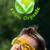 молодые · голову · глядя · зеленый · Эко · знак - Сток-фото © ra2studio