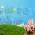 gelukkig · vingers · naar · stedelijke - stockfoto © ra2studio