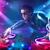 エネルギッシュな · 音楽 · パワフル · ライト効果 · 小さな · パーティ - ストックフォト © ra2studio