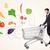 uomo · shopping · supermercato · spingendo · verdura · generi · alimentari - foto d'archivio © ra2studio