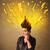 energiek · grappig · mooie · vrouw · opgewonden · mooie · vrouw - stockfoto © ra2studio