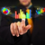 handsome young business man touching colorful modern graph syste stock photo © ra2studio