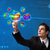 hand · cirkeldiagram · knop · zakenman · kantoor - stockfoto © ra2studio