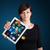 vrouw · moderne · tablet · kleurrijk · diagrammen - stockfoto © ra2studio
