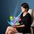 молодые · деловой · женщины · глядя · современных · таблетка · аннотация - Сток-фото © ra2studio