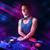 genç · oynama · turntable · renk · ışık · efektleri · güzel - stok fotoğraf © ra2studio