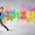 energiek · jonge · hip · hop · straat · danser - stockfoto © ra2studio