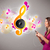 bastante · nina · cantando · escuchar · música · notas · musicales · fuera - foto stock © ra2studio