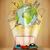 reizen · rond · wereld · weg · papieren · vliegtuig - stockfoto © ra2studio