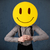 empresário · rosto · sorridente · emoticon · amarelo · cabeça - foto stock © ra2studio