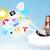 小さな · ビジネスマン · 座って · 雲 · ノートパソコン · かなり - ストックフォト © ra2studio