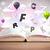Open · boek · vliegen · 3D · brieven · beton · kleurrijk - stockfoto © ra2studio