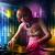 bastante · femenino · jugando · música · discoteca · mujer - foto stock © ra2studio