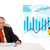 imprenditore · seduta · desk · statistiche · isolato · bianco - foto d'archivio © ra2studio
