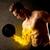 gespierd · bodybuilder · gewicht · vlammende · biceps - stockfoto © ra2studio