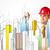 Stadt · Sehenswürdigkeit · jungen · Baustelle · Arbeitnehmer - stock foto © ra2studio