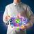 jóvenes · empresario · tableta · moderna · colorido - foto stock © ra2studio