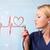 молодые · медсестры · прослушивании · аннотация · импульс · красный - Сток-фото © ra2studio