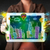 young person showing tablet with hand drawn cityscape stock photo © ra2studio