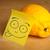 nota · rosto · sorridente · limão · papel · cara - foto stock © ra2studio