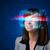 kobieta · wysoki · tech · smart · okulary · ekranu - zdjęcia stock © ra2studio