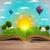 開いた本 · 緑 · 自然 · 世界 · 外に - ストックフォト © ra2studio