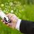 kéz · tart · okostelefon · kézzel · rajzolt · média · ikonok - stock fotó © ra2studio
