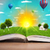 livro · aberto · verde · natureza · mundo · fora - foto stock © ra2studio