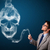 joven · fumar · peligroso · cigarrillo · tóxico · cráneo - foto stock © ra2studio