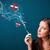 genç · kadın · sigara · içme · tehlikeli · sigara · işaretleri - stok fotoğraf © ra2studio