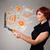 красивой · Lady · ноутбук · статистика - Сток-фото © ra2studio