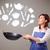 年輕女子 · 廚房 · 圖標 · 漂亮 · 年輕 - 商業照片 © ra2studio