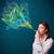 mooie · dame · roken · sigaret · kleurrijk · rook - stockfoto © ra2studio