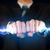 homem · de · negócios · eletricidade · luz · parafuso · mãos - foto stock © ra2studio