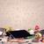 接着剤 · 注記 · 乱雑な · デスク · 木製 · 紙 - ストックフォト © ra2studio