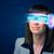 kobieta · przyszłości · wysoki · tech · smartphone · okulary - zdjęcia stock © ra2studio