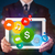 zakenman · presenteren · kleurrijk · moderne · borden · jonge - stockfoto © ra2studio