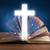 Open · heilig · bijbel · kruis · midden - stockfoto © ra2studio